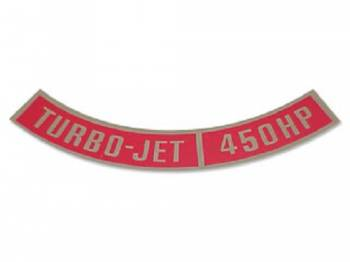 Jim Osborn Reproductions - Turbo-Jet 450HP Air Cleaner Decal - Image 1