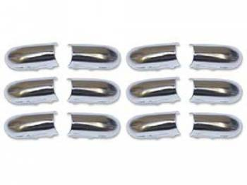 RestoParts - Bucket Seatback Chrome End Caps - Image 1