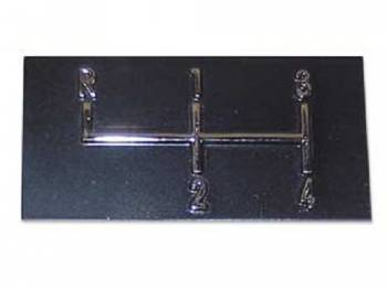 RestoParts (OPGI) - Console Shift Plate Emblem - Image 1