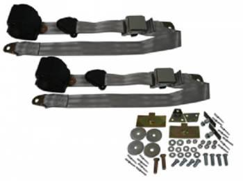 Seatbelt Solutions - 3-Point Seat Belts Silver