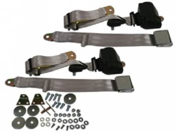 Seatbelt Solutions - 3-Point Seat Belts Silver - Image 1