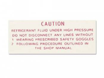 Jim Osborn Reproductions - Compressor Warning Decal - Image 1