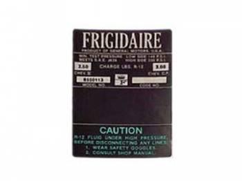 Jim Osborn Reproductions - Frigidaire Air Comp Decal (Green) - Image 1