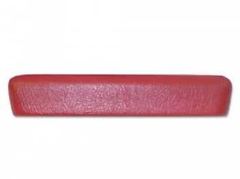RestoParts - Front Arm Rest Pad Red