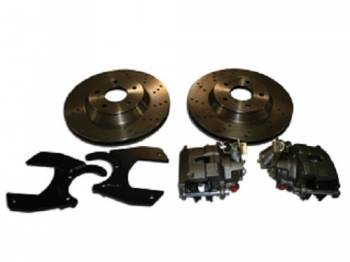 "McGaughy's Suspension - 13"" Rear Disc Brake Rotor Kit (Cross Drilled) - Image 1"