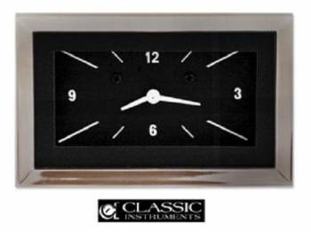 Classic Instruments - Classic Instruments Clock (Black with White Letters)