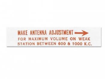 Jim Osborn Reproductions - Radio Antenna Backing Decal - Image 1