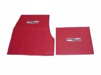 DKM Manufacturing - Rubber Floor Mats with Crest Emblem Red (4 pcs) - Image 1
