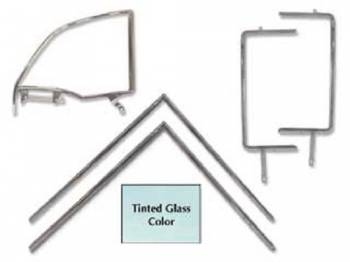 H&H Classic Parts - 6-pc Side Glass Set with Chrome Frames (Tinted) - Image 1