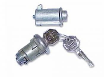 PY Classic Locks - Glove Box/Trunk Lock Set - Image 1