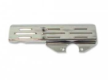 DKM Manufacturing - Chrome Steering Box Cover Ribbed - Image 1