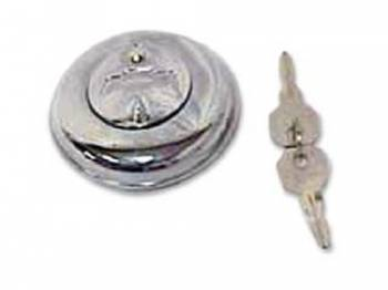 H&H Classic Parts - Locking Gas Cap with Bowtie - Image 1
