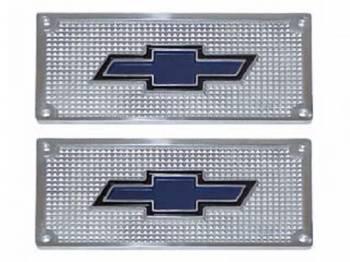 H&H Classic Parts - Aluminum Bowtie Step Plates - Image 1