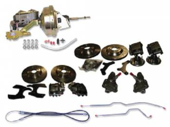 "H&H Classic Parts - Disc Brake Conversion Kit (13"" Cross Drilled Rotors) - Image 1"