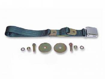 Route 66 Reproductions - Front Seat Belts Dark Green - Image 1