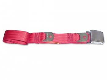 Route 66 Reproductions - Rear Seat Belts Flame Red - Image 1
