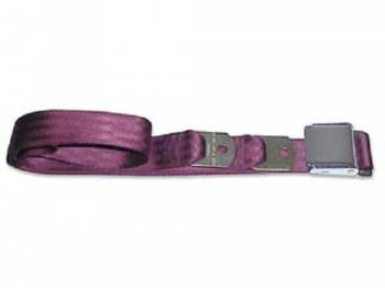 Route 66 Reproductions - Rear Seat Belts Maroon - Image 1
