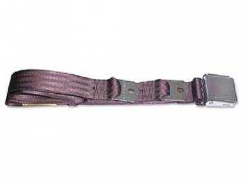 Route 66 Reproductions - Rear Seat Belts Dark Brown - Image 1