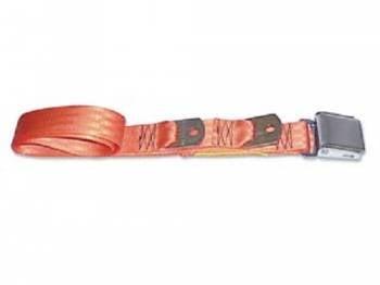 Route 66 Reproductions - Rear Seat Belts Orange - Image 1