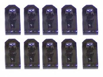 East Coast Reproductions - Inner Fender Wire Clips (Black) - Image 1