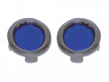United Pacific - Blue Dot with Chrome Ring - Image 1