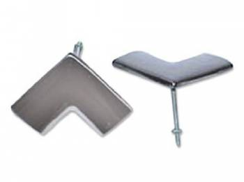 H&H Classic Parts - Rear Glass Upper Corner Moldings - Image 1