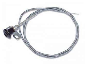 H&H Classic Parts - Cowl Air Vent Cable LH or RH with Black Knob - Image 1