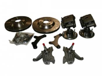 """McGaughy's Suspension - 13"""" Rotor Kits with Drop Spindles (Cross Drilled) - Image 1"""