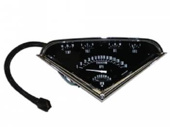 Classic Instruments - Tach-Force Gauge Kit Black/White Letters