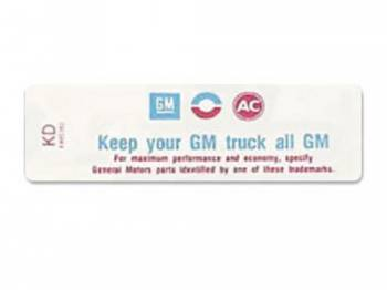 Jim Osborn Reproductions - Keep Your Truck All GM Decal - Image 1