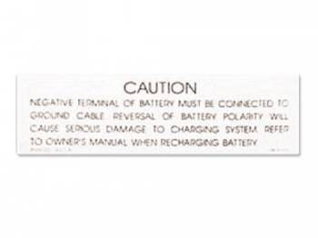 Jim Osborn Reproductions - Battery Caution Decal - Image 1