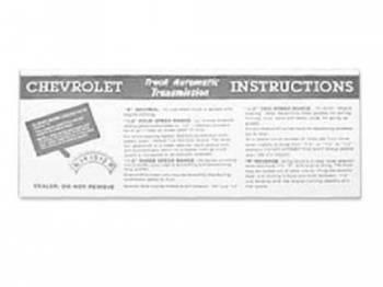 Jim Osborn Reproductions - Automatic Transmission Sunvisor Sleeve - Image 1