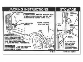 Jim Osborn Reproductions - Jack Instrumentruction Decal - Image 1