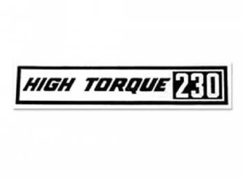 Jim Osborn Reproductions - HI-Torque 230 Valve Covers Decal - Image 1