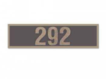 Jim Osborn Reproductions - 292 Valve Covers Decal - Image 1