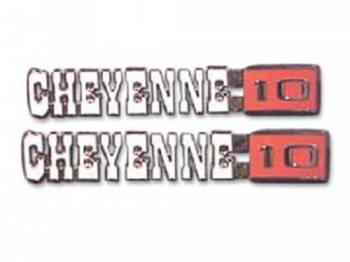 Trim Parts - Fender Emblems Cheyenne 10 - Image 1