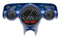Tri-Five - Dakota Digital - VHX Series Gauges Black Alloy Red