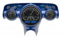 Tri-Five - Dakota Digital - VHX Series Gauges Black Alloy Blue