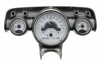 Classic Tri-Five Parts Online Catalog - Dakota Digital - VHX Series Gauges Silver Alloy White