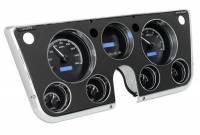 Dash Parts - Dakota Digital Dash Assemblies - Dakota Digital - VHX Series Gauges Black Alloy Blue