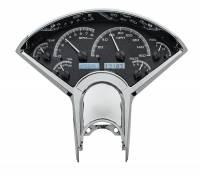 Tri-Five - Dakota Digital - VHX Series Gauges Black Alloy White