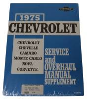 Classic Camaro Restoration Parts - DG Automotive Literature - Shop Manual Supplement