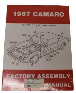 Classic Camaro Parts Online Catalog - Books & Manuals - Assembly Manuals