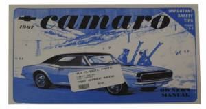 Classic Camaro Parts Online Catalog - Books & Manuals - Owners Manuals
