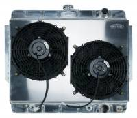 Radiators - Aluminum Radiators - Cold Case Radiators - Aluminum Radiator with Dual Electric Fans