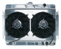 Classic Chevelle Parts Online Catalog - Cooling System Parts - Cold Case Radiators - Aluminum Radiator with Electric Fan