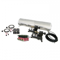 Chassis & Suspension Parts - RideTech Air Ride Suspension Kits - RideTech - Ride Pro 5-Gallon Analog Control System with BIG RED Valve Control