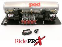 Chevelle - RideTech - AirPod 5-Gallon Analog Control System with BIG RED Valves
