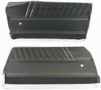 Interior Soft Goods - Door Panel Sets - PUI (Parts Unlimited Inc.) - Black Side Panel
