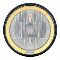 Headlight Parts - Headlight Bulbs - United Pacific - LED Headlight Bulb with Amber Halo